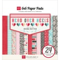 "Head Over Heels Cardstock Pad 6""X6"" 24/Sheets""-Double-Sided"