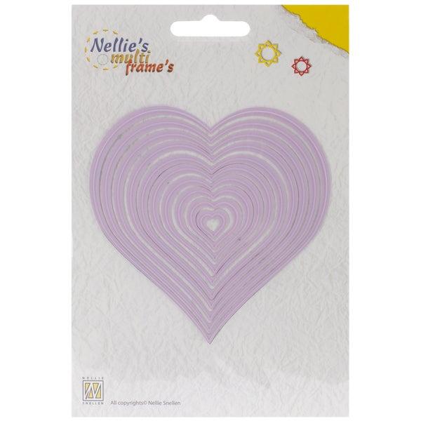 Nellie's Choice Multi Frame Dies-Heart