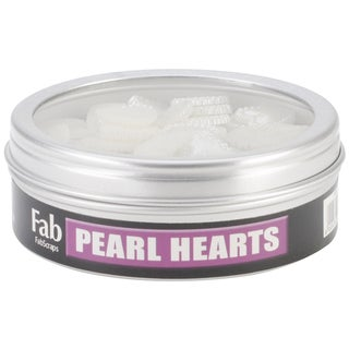 "Pearl Heart Embellishments .5"" 50/Tin"