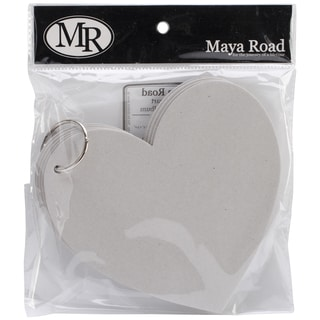 "Die-Cut Shaped Chipboard Album-It's Love Heart 6.5""X5"", 6 Pages & Ring"