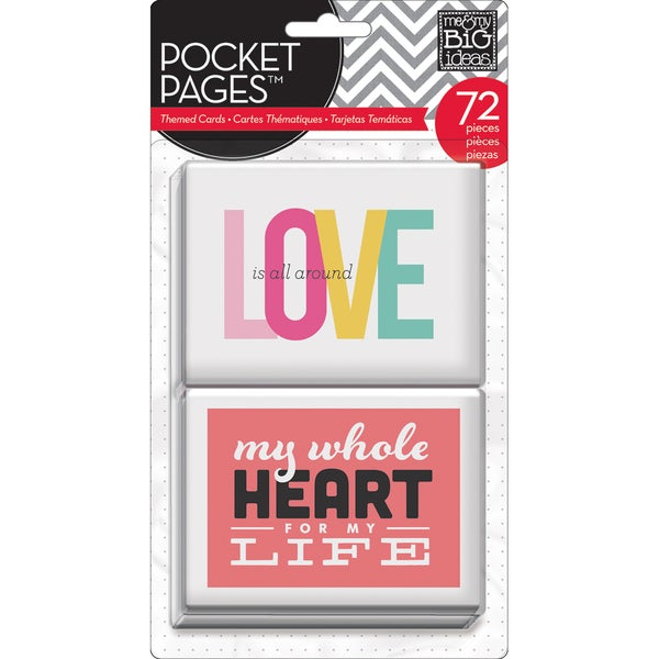 Me & My Big Ideas Pocket Pages Themed Cards 72pcs-Love