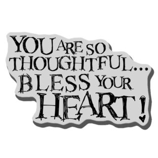 Stampendous Cling Rubber Stamp-Bless Heart