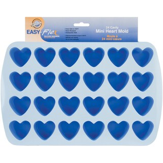 """Easy-Flex Silicone Bite Size Mold-24 Cavity Heart 1.5""""X1.75"""""""