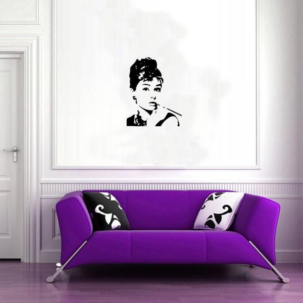 Audrey Hepburn Vinyl Wall Decal Sticker