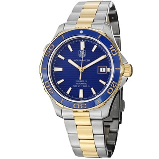 Tag Heuer Men's 'Aquaracer 500' Blue Dial Two Tone Steel Watch