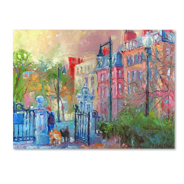 Richard Wallich 'Boston' Canvas Art