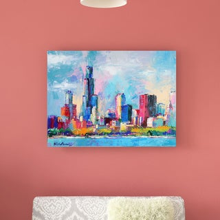 Richard Wallich 'Chicago 5' Canvas Art