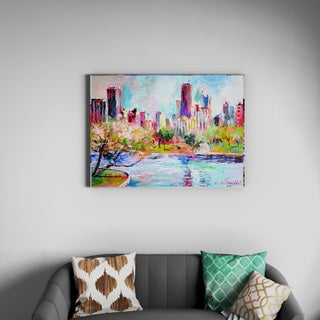 Richard Wallich 'Cityscape 2' Canvas Art