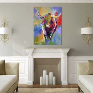 Richard Wallich 'Longhorn' Canvas Art