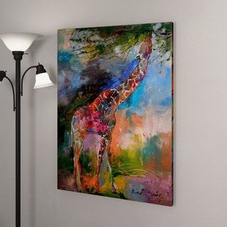 Richard Wallich 'Giraffes' Canvas Art
