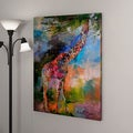Richard Wallich 'Giraffes' Canvas Art
