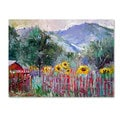 Richard Wallich 'Foothills' Canvas Art