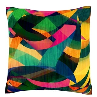 Colorful Textured Designs Velour Throw Pillow