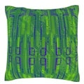 Abstract Green Pattern 18-inch Velour Throw Pillow