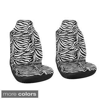 Zebra 2-piece Integrated Bucket Seat Cover Set