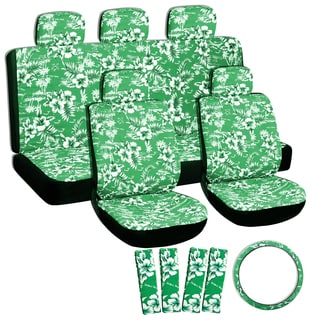 Hawaii Green 17-piece Seat Cover Set