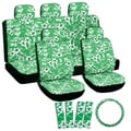 Oxgord Hawaii Green 17-piece Seat Cover Set