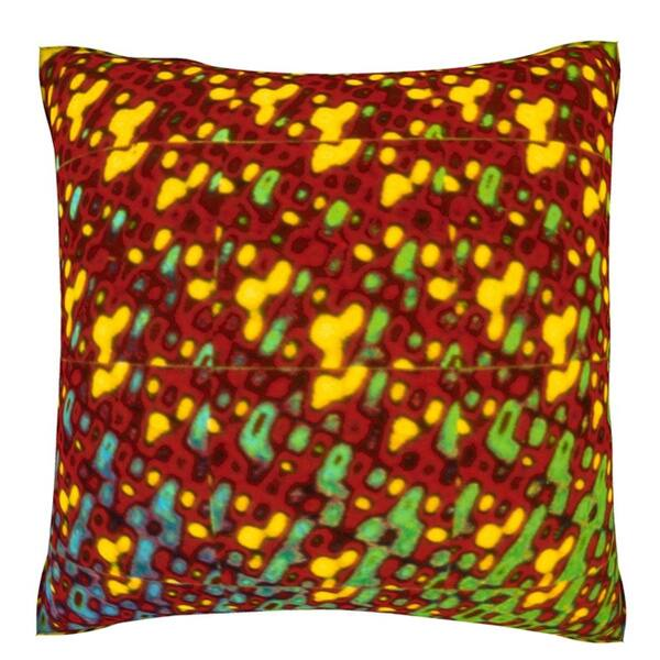 Colorful Shimmering Background 18-inch Velour Throw Pillow