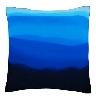 Dark Fog Hill 18-inch Velour Throw Pillow
