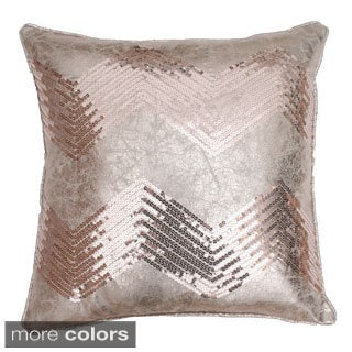 Crackle Chevron Sequin Throw Pillow