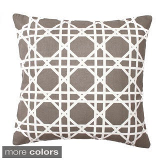 Cane Printed Down Filled Throw Pillow