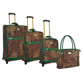 Adrienne Vittadini 4-piece Fashion Spinner Luggage Set