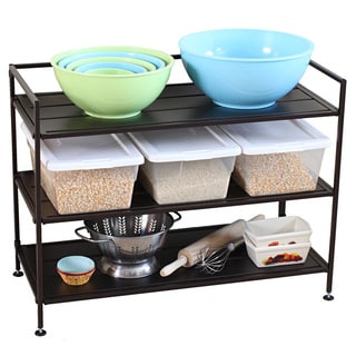 Oceanstar 3-tier Stackable Bronze Metal Shoe Shelf