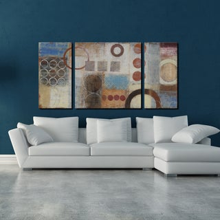 Studio 212 'Reflections' 30x60-inch Textured Canvas Triptych Art Print