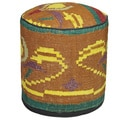 Decorative Kilim Brown/Yellow/Purple Wool Ottoman