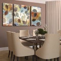 Studio 212 'Autumn Muse' 30x60-inch Textured Canvas Triptych Art Print