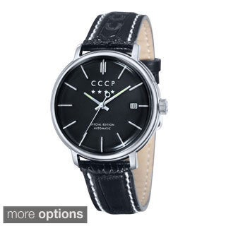 CCCP Men's 'Heritage' Automatic Leather Strap Watch