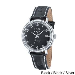 CCCP Men's 'Heritage' Automatic Movement Leather Strap Watch