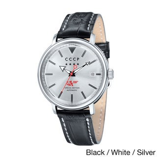 CCCP Men's 'Heritage' Automatic Leather Strap Classic Dial Watch