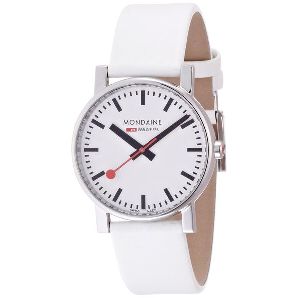 Mondaine Women's 'Evo' White Leather Watch