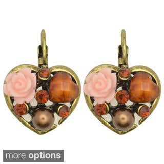 Kate Marie 'Tiffany' Vintage Heart-shaped Fashion Earrings