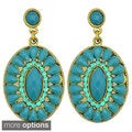 Kate Marie 'Norma' Round Embellished Dangle Fashion Earrings