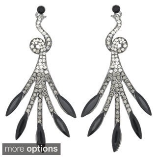 Kate Marie 'Meggan' Rhinestone Twig-look Fashion Earrings