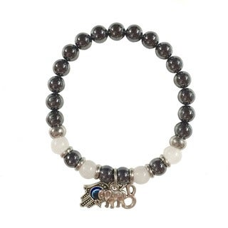 Hematite and Moonstone 'Protection From Negativity' Bracelet