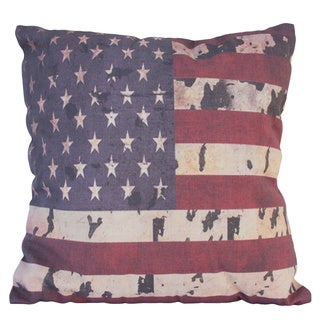Vintage American Flag Decorative Throw Pillow