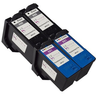 Sophia Global Remanufactured Ink Cartridge Replacement for Dell MK990 and MK991 Series 9 (2 Black, 2 Color)