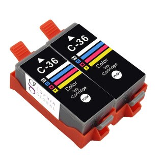 Sophia Global Compatible Color Ink Cartridge Replacement for Canon CLI-36 (Pack of 2)