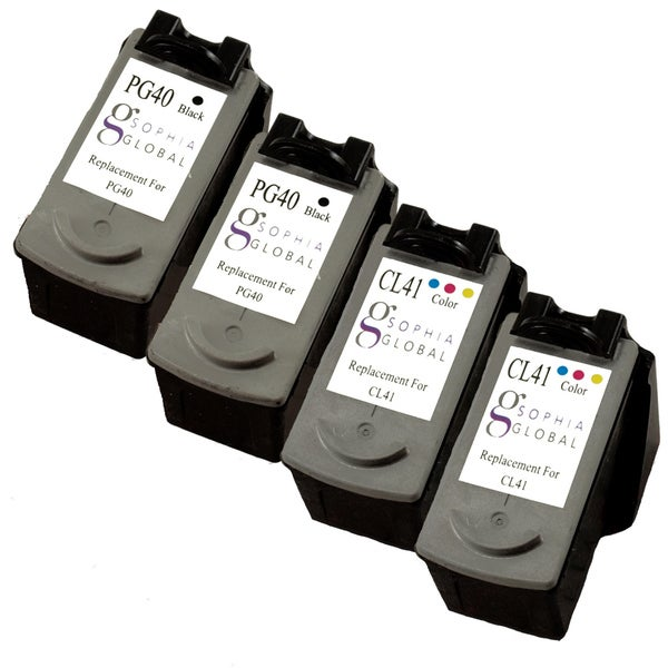 Sophia Global Remanufactured Ink Cartridge Replacement for Canon PG-40 and CL-41 (Pack of 4)