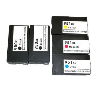 Compatible Ink Cartridge Replacement for HP 950XL, 951XL, CN045AN, CN046AN, CN047AN ,CN048AN (#140)/ OfficeJet Pro (Pack of 5)