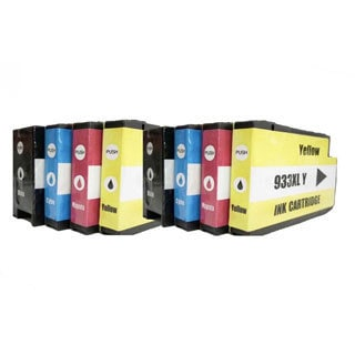 Replacement For CN053AN CN054AN CN055AN CN056AN for HP 932XL/933XL Ink Cartridges (K/C/M/Y) (Set of 2)