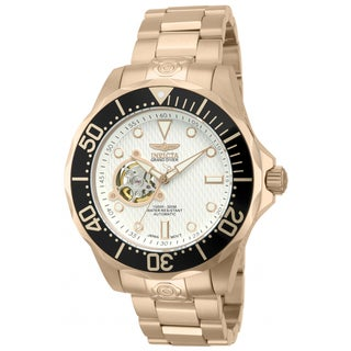 Invicta Men's 13712 18k Rose Gold-Plated Stainless Steel Pro Diver Automatic Skeleton Watch