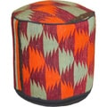 Handmade Kilim Orange/ Red Wool Ottoman