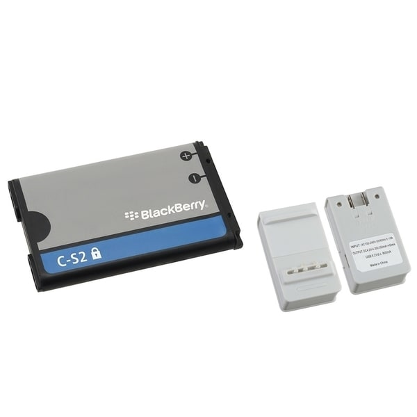 Insten Battery Charger with USB Output/ Blackberry Standard OEM Battery C-S2/ BAT-06860-009 for BlackBerry Curve 8520/ 9300