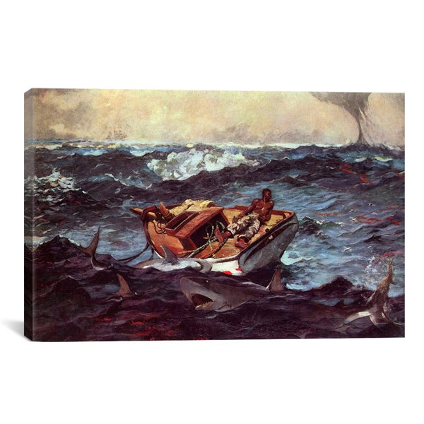 Gulf Stream by Winslow Homer Canvas Print Wall Art