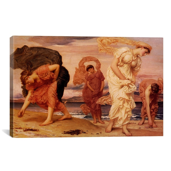 By The Sea by Frederick Leighton Canvas Print Wall Art