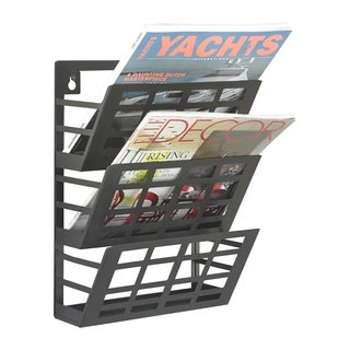 Grid 3-pocket Magazine Rack